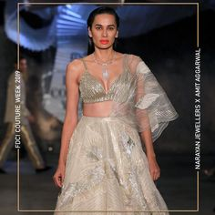 """Narayan Jewellers delightfully launched the new bridal collection in association with ace Designer Amit Aggarwal for """"Lumen"""" Couture 2019 at FDCI. Silk Kurti, Indian Couture, Bridal Collection, Fashion Show, Product Launch, Jewels, Formal Dresses, Design, Formal Gowns"""