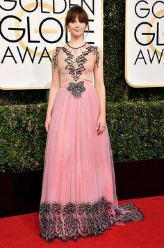 Felicity Jones Dress: Gucci 74th Golden Globe Awards, Golden Globes After Party, Felicity Jones, Natalie Portman, Couture Dresses, Women's Fashion Dresses, Pink Dress, Dress Up, Vestidos Color Rosa