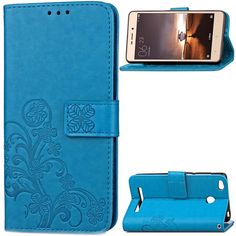 Four Leaf Leaves Leather Phone Case For Xiaomi Max Note-2 Redmi(2 3 3S 3SPro Note2 Note3) Wallet Cover Mobile Accessories