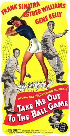 "Otro elenco de lujo: Esther Williams, Frank Sinatra, Gene Kelly, en la cinta de 1949, ""Take Me Out to the Ball Game""."