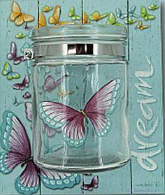 Dream Bliss Jar - Candle Holder by Lisa Pollock Louie Schwartzberg, Metal Garden Art, Butterfly Kisses, Bar Signs, Beach House Decor, Something Beautiful, Soy Candles, Bliss, Mason Jars