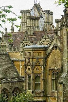 Tyntesfield, Bristol, England (19th-century Gothic Revival style -- National…