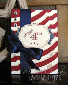 Happy Independence Day Handmade Greeting Card by CrazyPaperFreak, $8.00