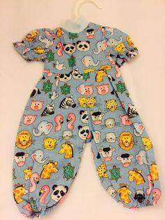 Cute Outfit for 18 inch Dolls Like American Girl Dolls Animal Print Onzie | eBay