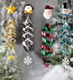 Holiday Hanging Swirl Garden Wind Spinner Santa Plow & Hearth - Wind Spinner - Ideas of Wind Spinner Christmas Crafts For Adults, Diy Christmas Gifts, Christmas Art, Christmas Decorations, Christmas Ornaments, Garden Wind Spinners, Santa Crafts, Foam Crafts, Foam Sheet Crafts