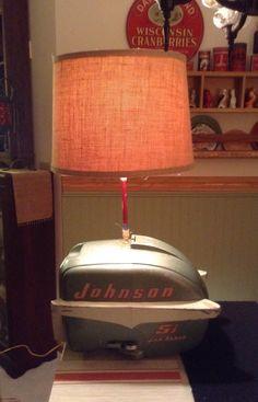 Old Boat Motor Lamp.