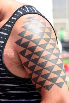 Hawaiian Geometric Tattoo Sleeve by shaire productions, via Flickr 8531 Santa Monica Blvd West Hollywood, CA 90069 - Call or stop by anytime. UPDATE: Now ANYONE can call our Drug and Drama Helpline Free at 310-855-9168.