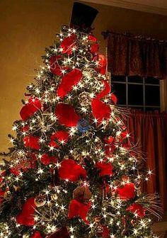 Arboles de navidad decorados con cintas - Arboles de navidad decorados ...