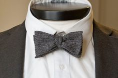 The Chatsworth Our knit bowtie in grey wool by wickhamhouse, $54.00