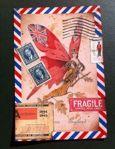 Original mail art - By Lara Irwin   British Butterfly