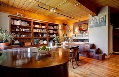 Wood Ceilings, Bedroom Loft, Wall Storage, Exposed Brick, Large Windows, Kitchen And Bath, Beams, Flooring, Living Room