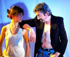 Charlotte Gainsbourg and Serge Gainsbourg shot by Jean-Luc Buro on the set of her video for Charlotte Forever 1986   Buro's website jeanlucburo.com