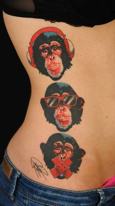 three chimps by *amok-lines
