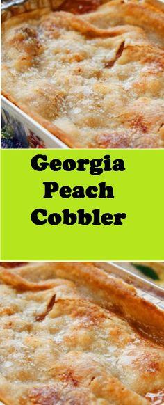 Georgia Peach Cobbler desserts cobbler is part of Dessert recipes - Fruit Recipes, Desert Recipes, Cooking Recipes, Vegan Recipes, Köstliche Desserts, Delicious Desserts, Yummy Food, Plated Desserts, Fruit Cobbler