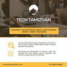 """In 2004, good SEO made you remarkable on the web. In 2014, good SEO is a result of being remarkable on the web."" – Rand Fishkin  Digital Marketing Agency - TECH TAMIZHAN  ☎️: +91 90031 00061/ +91 70108 96056 🔗: www.techtamizhan.com 📧: techtamizhan.in@gmail.com  #seosupport #digitalmarketingagency #seoagencychennai #techtamizhan #webdeveloper #shoppingwebsite #ppcservice #socialmediaoptimization Link Web, Seo Agency, Digital Marketing Services, Shopping Websites, Search Engine Optimization, App Development, Mobile App, Ecommerce, Web Design"