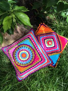 Crocheted pillows!