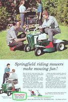 1960s Western Auto Lawn Mower Ad Boy Mowing House