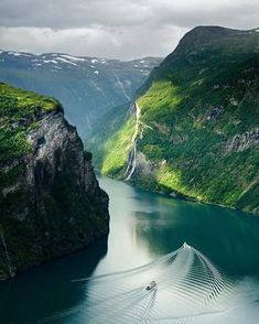 Geiranger Nature Architecture, Destinations, Paradis, Waterfall, River, Outdoor, Management, Vacation, Landscape