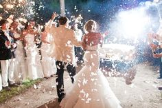 Gorgeous white wedding confetti cannon. Shoots 10-15 feet into the air and is 100% biodegradable and is made from water-soluble rice paper