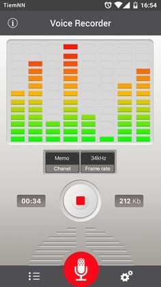 aparat de inregistrat– captură de ecran Spectrum Analyzer, Process Control, Used Audi, Voice Recorder, Free Download, Sd Card, User Interface, Android Apps, The Voice
