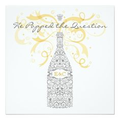 Shopping He Popped the Question Champagne Invitation We provide you all shopping site and all informations in our go to store link. You will see low prices on