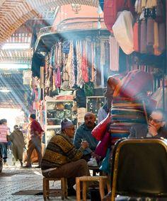 Downtown Marrakech. Medina of Marrakech, Morocco
