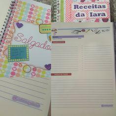Caderno de receitas #papelariapersonalizada #papelariacriativa #papelaria