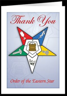 Eastern Star - thank you cards