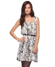 Belted Abstract Print Dress $27.80 from Forever21