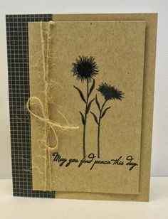handmade card: One Smile lifts A Spirit: Dynamic Duos # 7 ... kraft and black ... luv it!