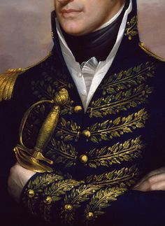 Rembrandt Peale. William Henry Harrison (detail). c. 1813