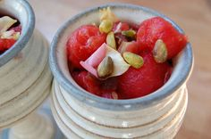 Recipe: Persian Watermelon Rose Salad is a unique and tasty way to enjoy refreshing watermelon! #healthy #paleo