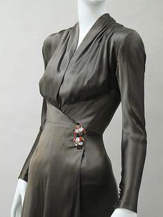 Dinner dress Charles James (American, born Great Britain, 1906–1978) Date: 1939 Culture: American Medium: silk, synthetic. Detail