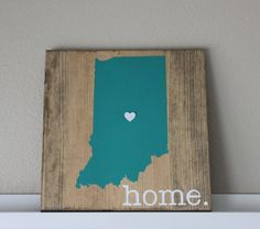 Indiana Wood Sign, State Sign, Custom Wood Sign, Pallet Sign, Personalized Wood Sign, home decor, wall art, moving gift