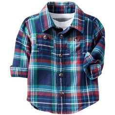 Old Navy Plaid Flannel Shirts For Baby (€11) ❤ liked on Polyvore featuring baby, baby boy, baby clothes, kids and baby stuff