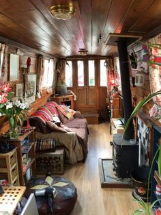 A caravan is believed to be a long-term investment. Instead of paying for a costly re-spray, it may be that the caravan could use an expert wash and polish to get rid of black streaks and return it to its… Continue Reading → Tiny Living, Living Spaces, Living On A Boat, Living Room, Canal Boat Interior, Narrowboat Interiors, House Boat Interiors, Houseboat Living, Cosy Home