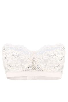 The Best Bras For Small-Chested Women #refinery29  http://www.refinery29.uk/bras-small-boobs#slide-16  Get that extra bit of support from underwiring with a bandeau, like this pure white corsette by Else. Else Petunia Underwired Strapless Corsette Bra, available at Else Lingerie... - lingerie and underwear, cute intimates, lingerie glamour *ad