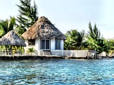 out on the water in belize