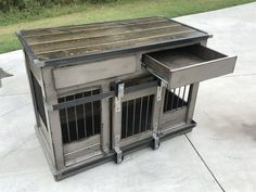 Hottest Free of Charge Designer dog houses! Replace your wire dog crate with a nice piece . Popular A secure area for your dog A dog kennel is an excellent selection to provide your pets protected exi Dog Kennel Cover, Diy Dog Kennel, Diy Dog Bed, Kennel Ideas, Cheap Dog Cages, Entertainment Center, Plastic Dog Kennels, Crate End Tables, Luxury Dog Kennels