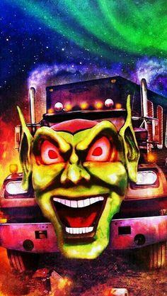 Classic Horror Movies, Classic Cartoons, Horror Films, Stephen King Movies, Stephen Kings, Maximum Overdrive, Joker Comic, Neon Wallpaper, Scary Stuff