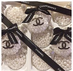 Personalized Ornaments | fill in clear glass ornaments with beads or pearls