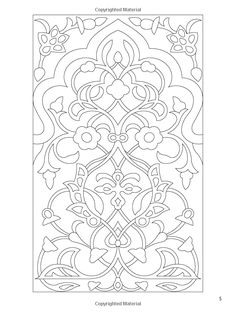 arabic floral patterns coloring book nick crossling coloring books for adults 9780486478470