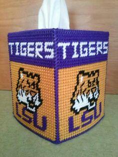 Louisiana State University (LSU) Tissue Box Cover