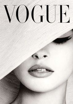 Vogue Cover White Hat Photography Poster Print by PrintArtworks