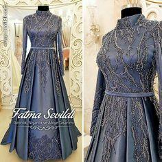 Hijab Evening Dress, Hijab Dress Party, Evening Dresses, Hijabi Gowns, Indian Gowns Dresses, Grad Dresses, Dress Outfits, Fashion Dresses, Fashion Fashion