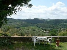 This is   wonderful panorama  in the Hills of Florence  at Agriturismo I Casalini