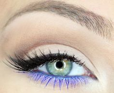 Pop of color! #makeup #eyes #blue