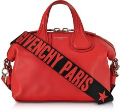Givenchy Red Leather Small Nightingale Satchel Bag