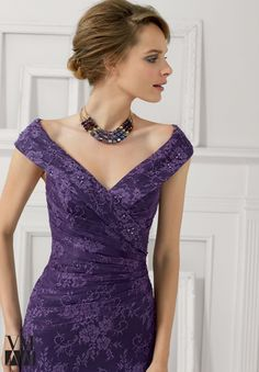 71113 Evening Gowns / Dresses Lace with Beading