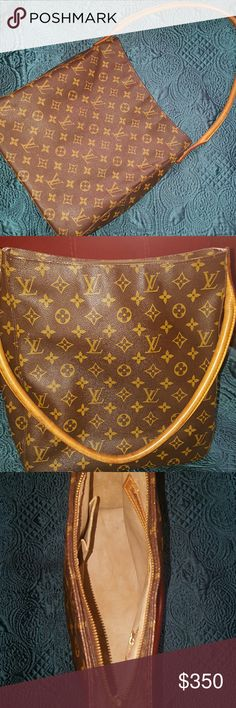 Louis Vuitton Looping GM bag Purchased from Poshmark. Seller guaranteed 100% Authenticity. I just never carry it. I prefer crossbody bags. It comes with an Authentic LV wallet that was purchased of PoshMark as well. Louis Vuitton Bags